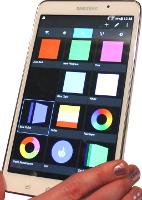 Android-Handy mit Steuerungs-App