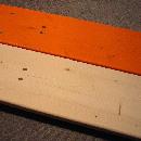 Holzfarbe in natur oder orange