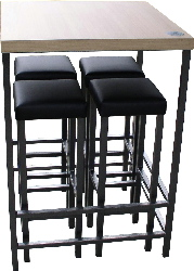 messestand 4 barhocker verschwinden unter stehtisch. Black Bedroom Furniture Sets. Home Design Ideas