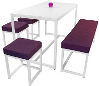 KUBA Dinner mit KUBA Cube und KUBA Love Bank - Polster in purple