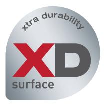 Patentierte XD-Oberfläche mit Schutz vor Kratzern