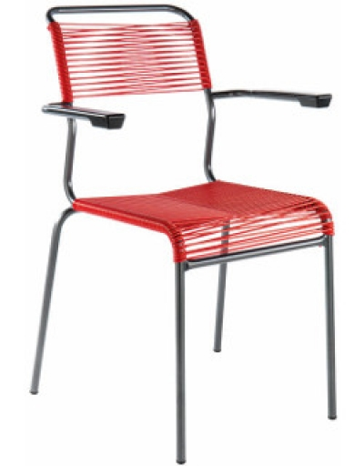 spaghetti stuhl saentis mit armlehne f r hohen komfort. Black Bedroom Furniture Sets. Home Design Ideas