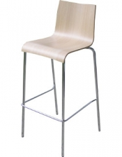 barhocker mit hpl hartfaser sitzschale in holz farbe. Black Bedroom Furniture Sets. Home Design Ideas